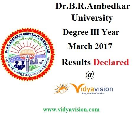 Dr.B.R.Ambedkar University Degree Results
