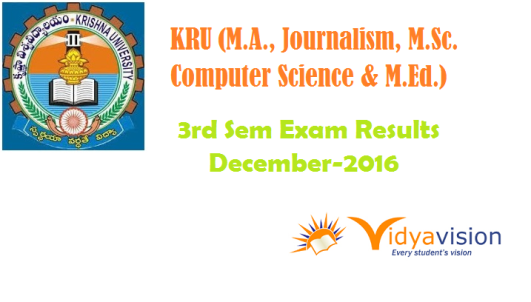 Krishna University PG 3rd Sem Exam Results December 2016