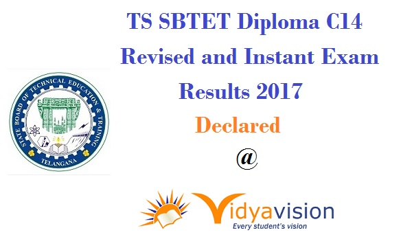 TS SBTET Diploma C14 Revised and Instant Exam Results 2017