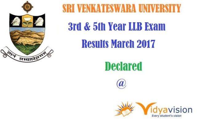 Sri Venkateswara University 3rd & 5th Year LLB Exam Results March 2017