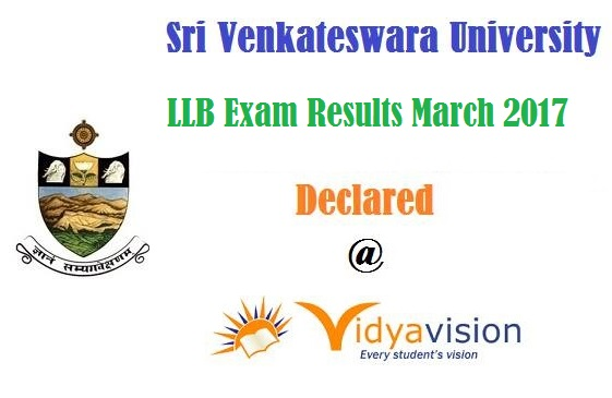 Sri Venkateswara University LLB Exam Results