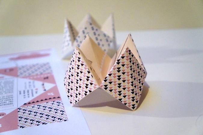 Carte Bonne Annee Origami