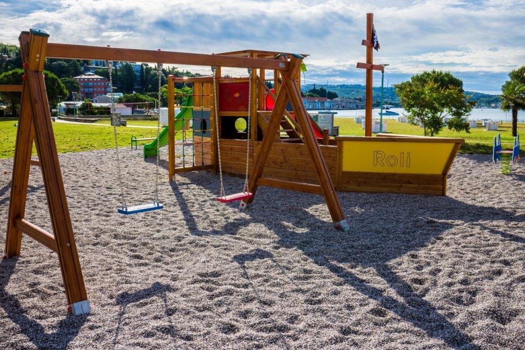 PORTOROSE hotel vile park: Plaża