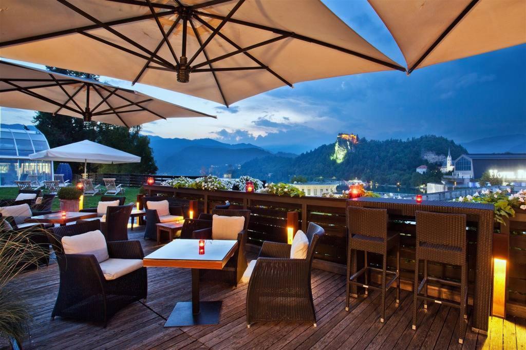 Hotel Kompas Lacul Bled: Terasă