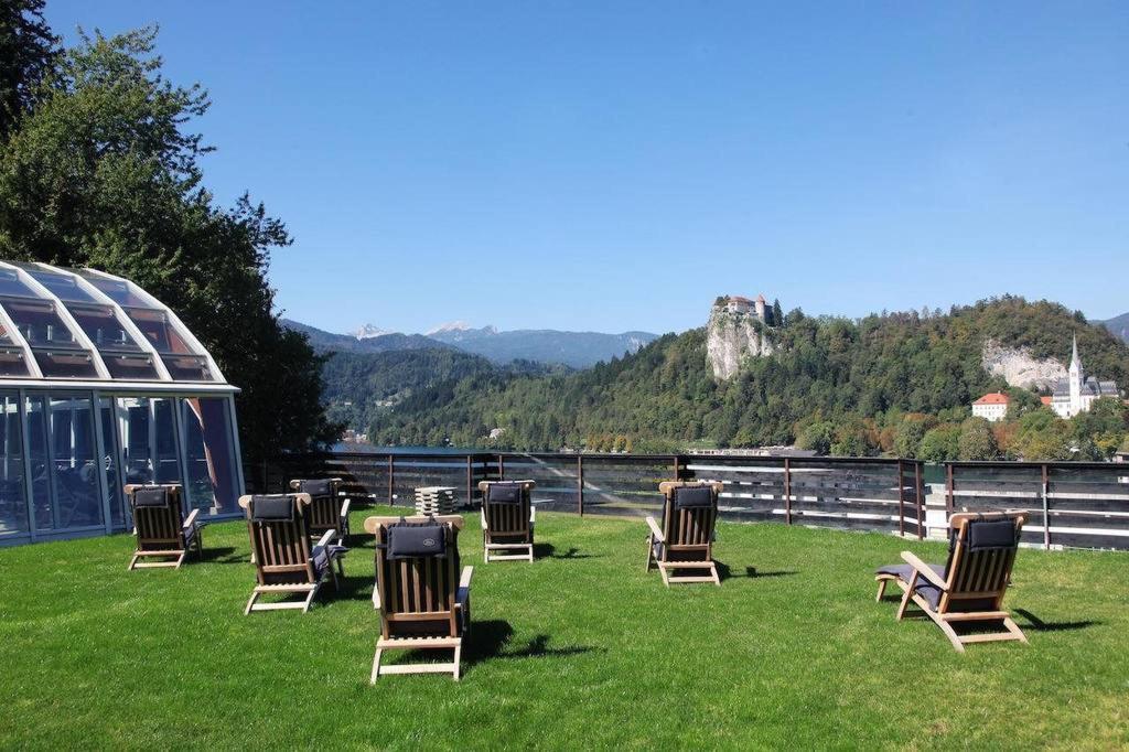 Hotel Kompas Lago di Bled : Solarium