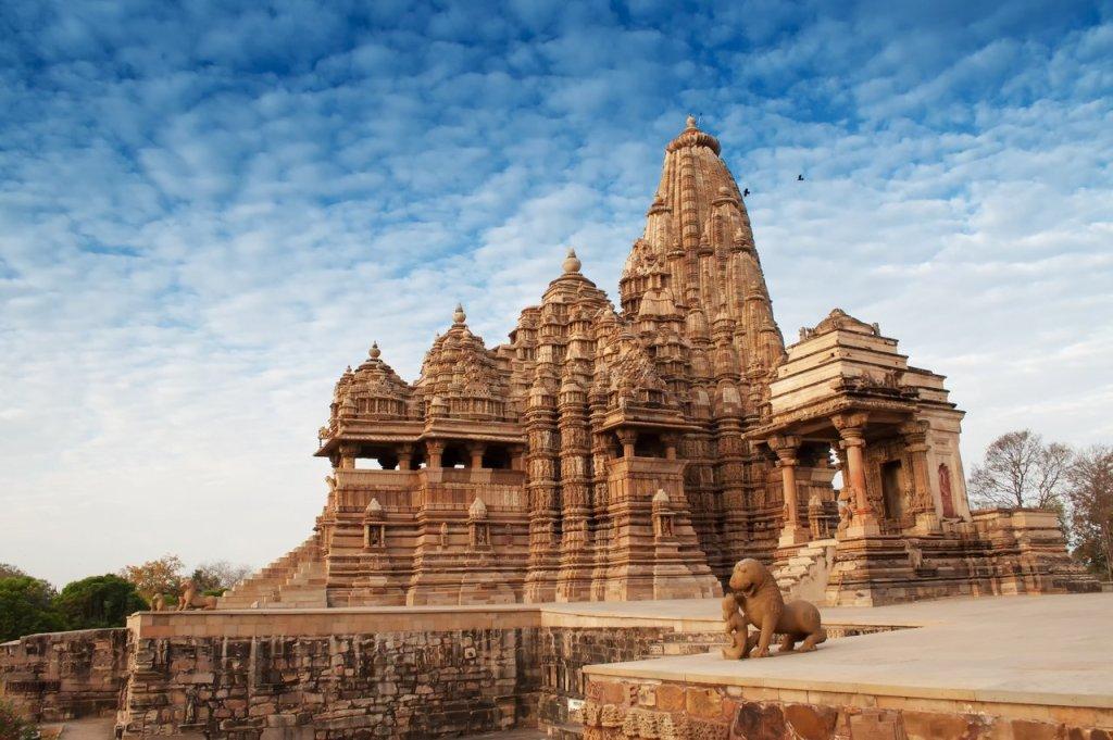 Kandariya Mahadeva Tempel, Khajuraho, Indien.