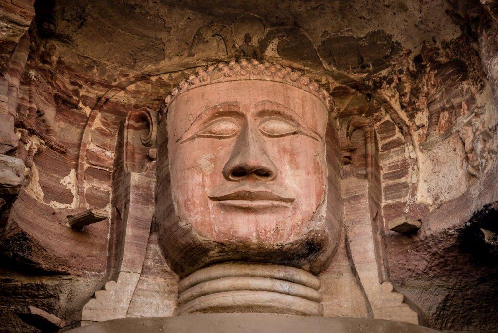 Klassisches Indien: Gwalior-Skulptur von Buddah