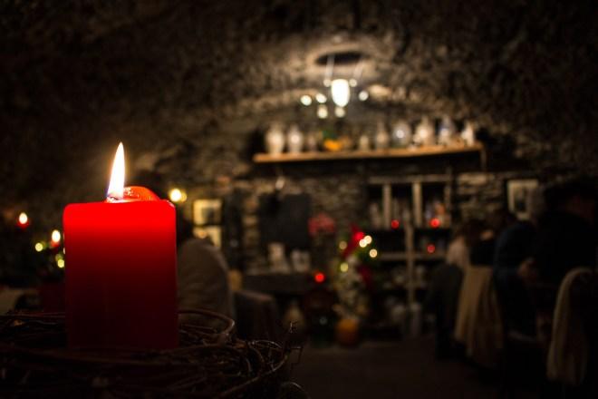 Im Kellergewölbe der alten Zunftscheune lohnt es sich ein zünftiges Abendessen zu genießen.