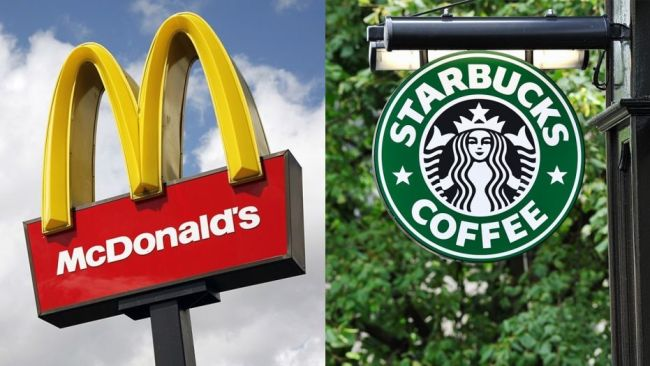 McDonald's, Starbucks
