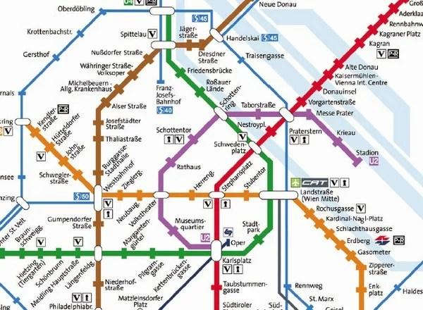 Wien map - karte - kart
