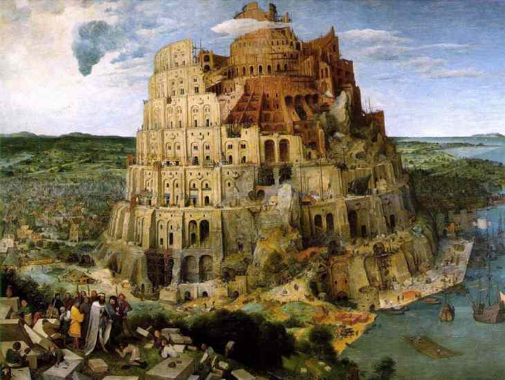 One of the most famous works of Pieter Bruegel - The Tower of Babel