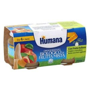 Omogeneizzato biologico di frutta mista Humana 31