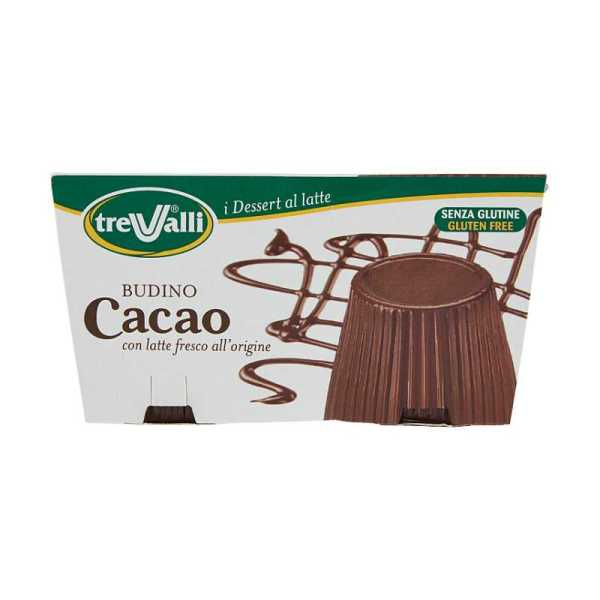 trevalli i dessert al latte budino cacao 2 x 100 g
