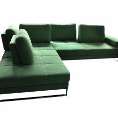 Bensen Lite Sofa Modway Loft Leather Left Arm Sectional Green Corner Light Living Room