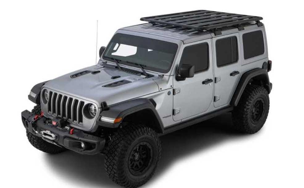 roof rack kit rhino rack pioneer platform 1828x1426mm backbone rcl jeep wrangler jl 4dr