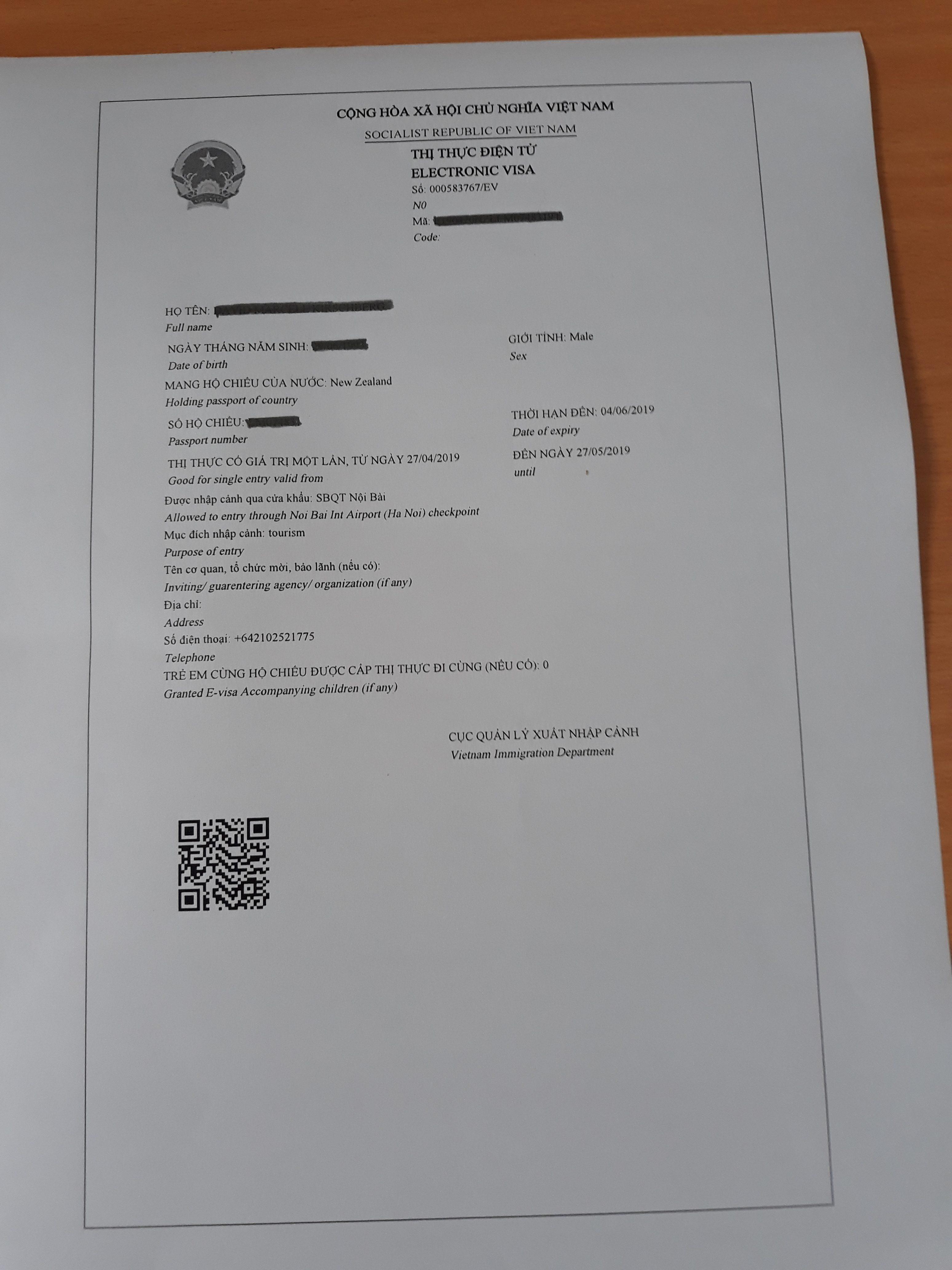 越南電子簽證為香港護照持有人正式通過2019 | Vietnam eVisa