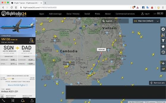 Ứng dụng Flightradar24