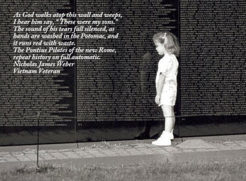 Little girl at The Wall