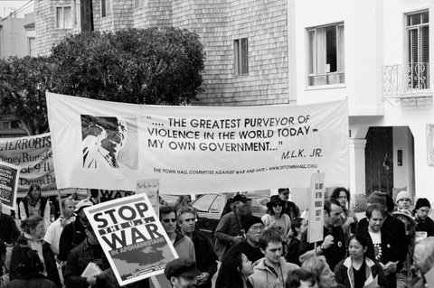 Banner with MLK Jr. quote