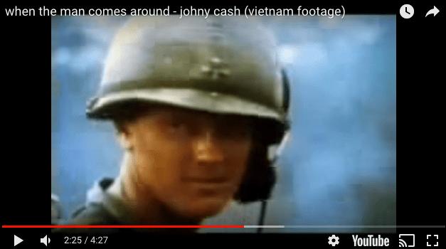Johnny Cash – When the Man Comes Around (VIETNAM FOOTAGE)