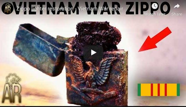 Vietnam War Era Zippo lighter restoration