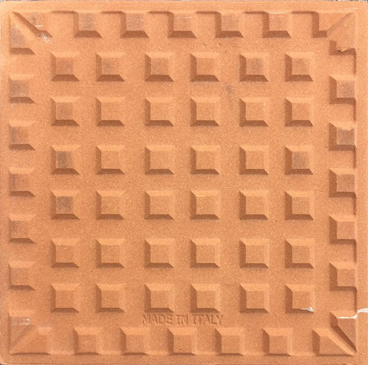 Piastrella Pennellata in Ceramica 10x10 cm  Ceramiche di Vietri