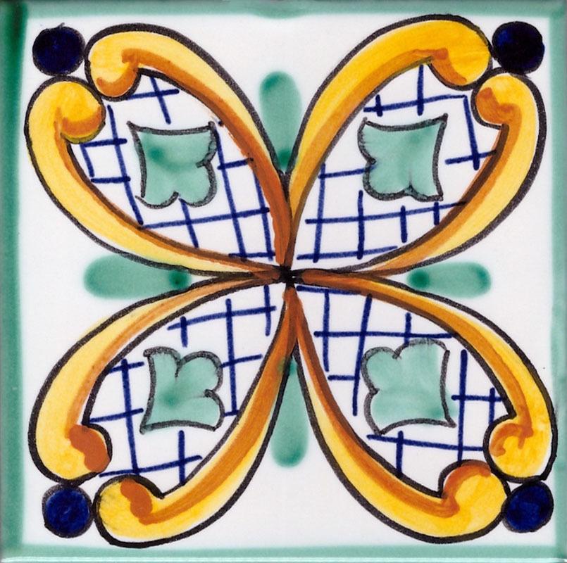 Piastrelle in Ceramica di Vietri per Cucina  Piastrella Vietrese