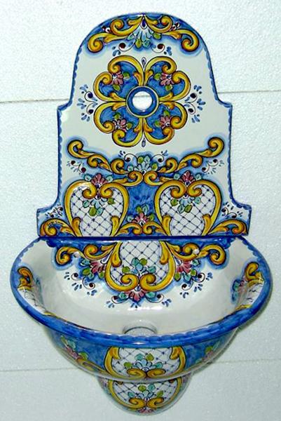 Antica riggiola arredo casa arredo giardino ceramica d'arte ceramica di vietri cotto antico cotto artigianale cotto fatto a mano cotto vietri cristalline craquelè cucina vietrese cucine in muratura decorato a mano dipinto a mano mattonella decorata mattonella vietrese mattonelle decori assortiti mosaico murale 60x60 outlet della ceramica. Ilaria Cm 50 Vietri Store S R L
