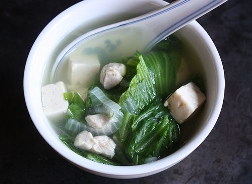 Mustard Greens Tofu and Chicken Soup Recipe Canh Cai