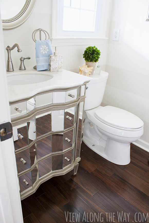 Decorating a Powder Half Bathroom Before and After