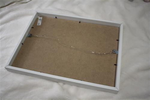how to hang ikea ribba frames in a