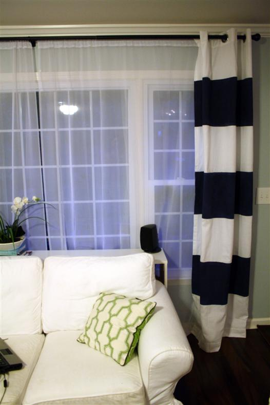 How To Paint Striped Curtain Panels