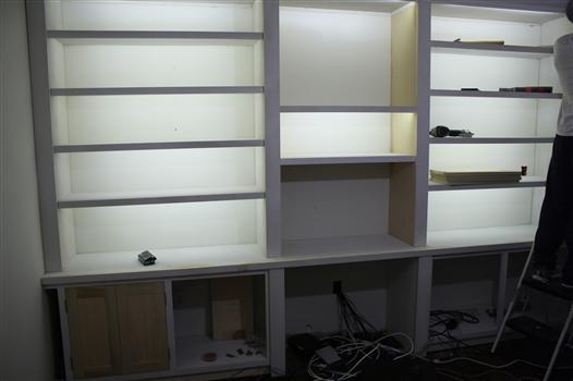 lighting for bookshelves and under cabinets