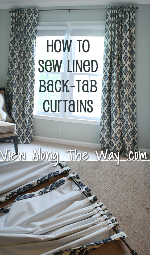 How To Sew Tab Back Curtains Guest Tutorial Little Birdie Secrets