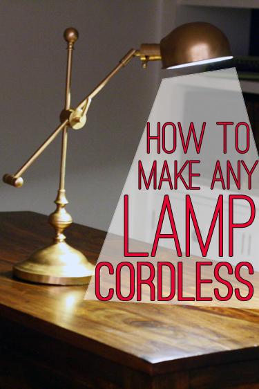 Lamp Hack How to Make Any Lamp Cordless   View Along