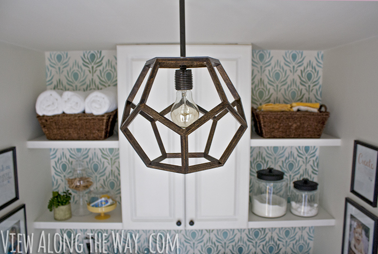 diy dodecahedron pendant light and an
