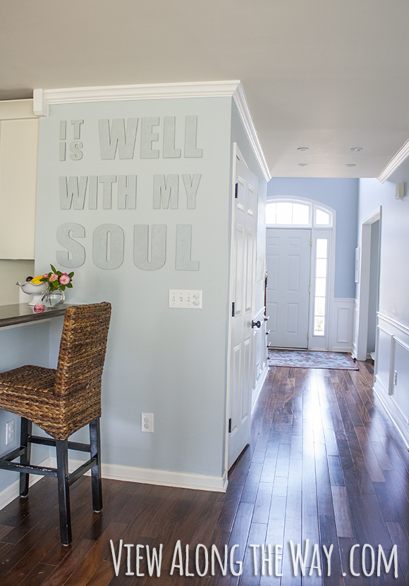 """It is well with my soul"" - Canvas Letters at View Along the Way"