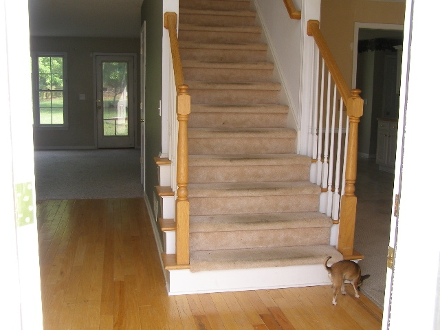 How To Refinish And Update Wood Stair Railings | Cost To Refinish Wood Railing | Stair Treads | Interior | Gel Stain | Paint | Balusters