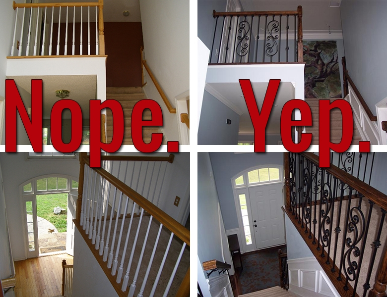 How To Install Iron Balusters View Along The Way | Banister Rail And Spindles | Component | Interior | Lj Smith | Newel Post | Porch