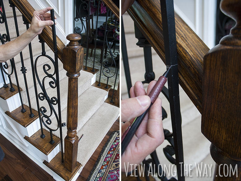 How To Install Iron Balusters View Along The Way | Wrought Iron Banister Spindles | Metal | Wooden | Double Basket | Cast Iron | Type