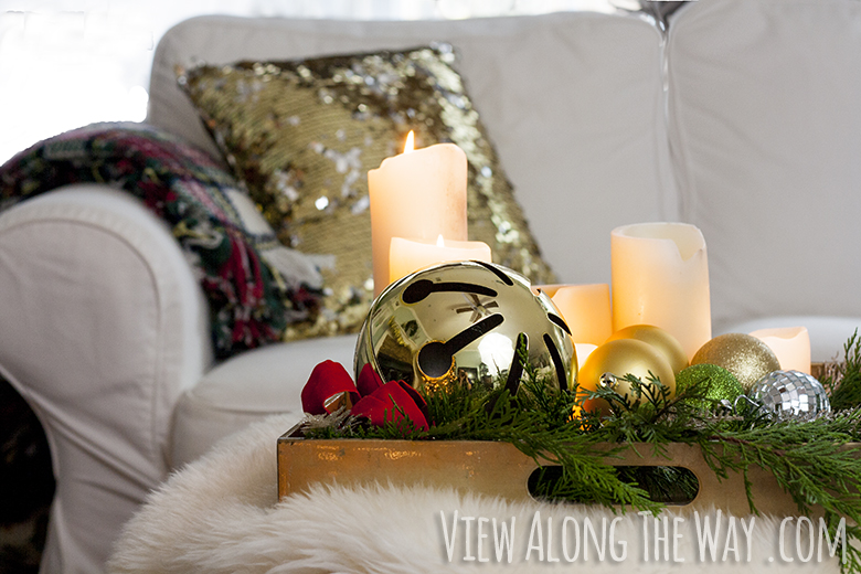 gold glass sofa table best fabric for reupholstering a christmas home tour - * view along the way