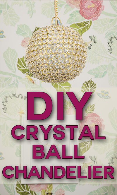 You Can Make This Diy Crystal Chandelier In Only About An Hour