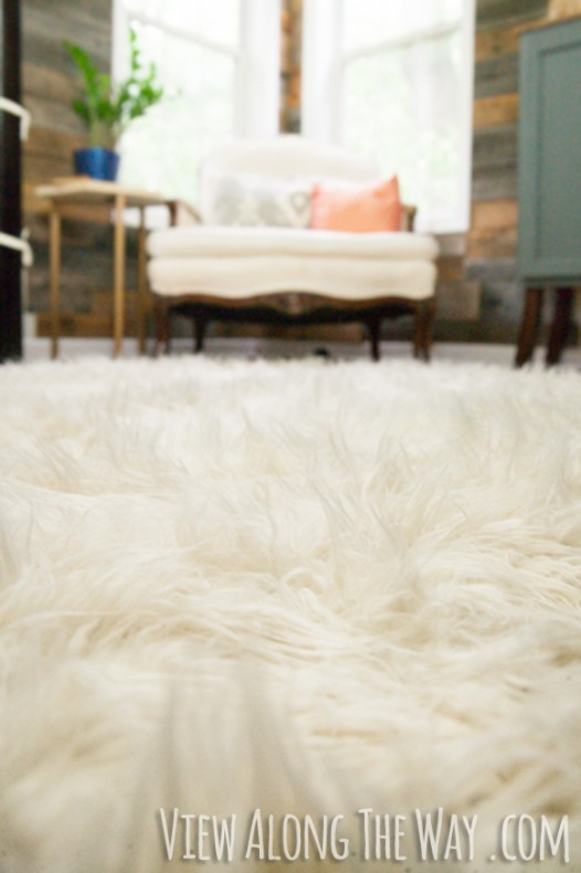 sheepskin rug on chair pictures of rooms with rails how to make a diy faux fur (!) - * view along the way