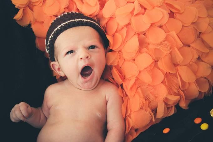 Sleepy baby by Chickey - Orange Tones Photo Contest