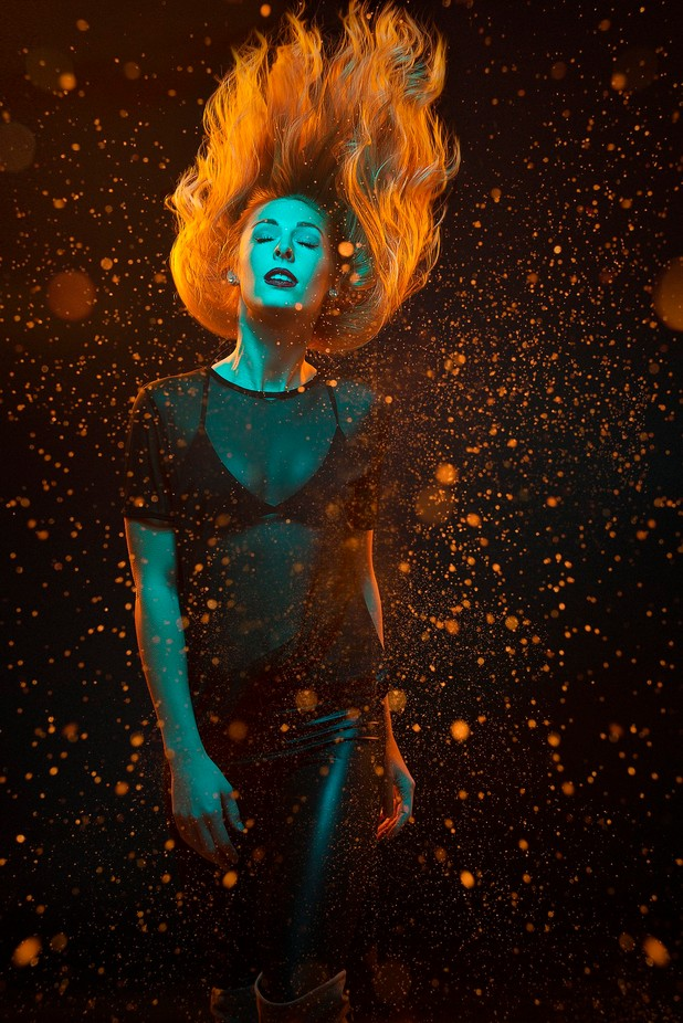 Girl on fire 2.0 by warrenstowell - Orange Tones Photo Contest
