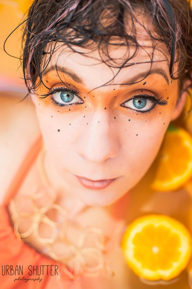 Milk Bath Series: Julia by UrbanShutter - Orange Tones Photo Contest