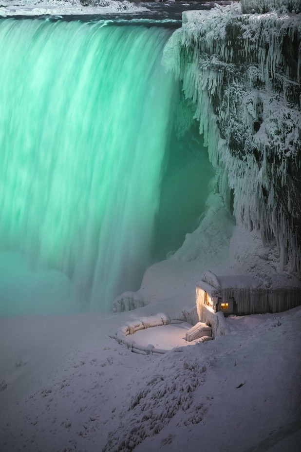Cabin by the falls  by IassenBG - Canada Photo Contest