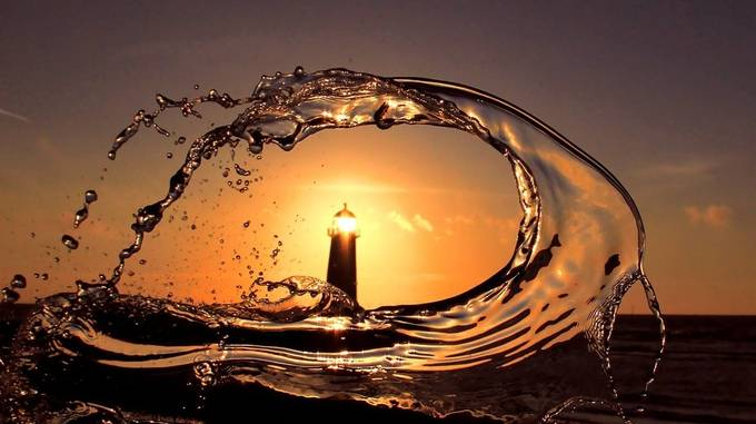 Point of Ayr lighthouse by TurnipTowers - Orange Tones Photo Contest