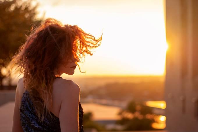 KC Sunset wild redhead  by MissHuniBuni - Orange Tones Photo Contest