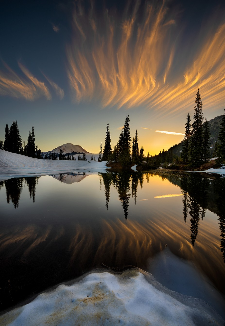 Sunset at Tipsoo Lake by vbpetercheung922585511 - The Wonders of the World Photo Contest
